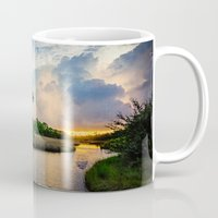 sunrise Mugs featuring Sunrise by JMcCool