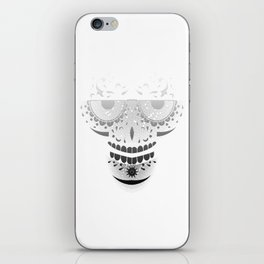 Sugar Skull - Day of the dead bw iPhone Skin