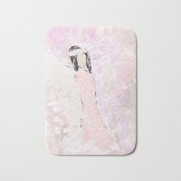 Abstract Angel in Pink Bath Mat