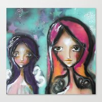 angels Canvas Prints featuring angels by SannArt