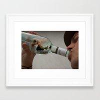drunk Framed Art Prints featuring Drunk by Nouveau Rose Design