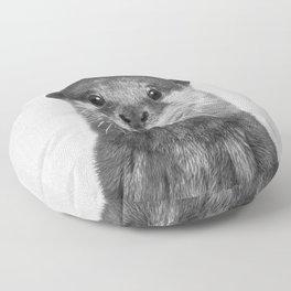 Otter - Black & White Floor Pillow