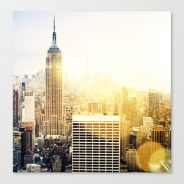 New York city with bokeh Canvas Print