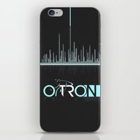 tron iPhone & iPod Skins featuring Tron Minimalist by Ed Burczyk