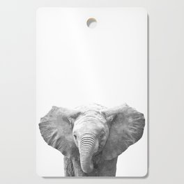 Black and White Baby Elephant Cutting Board