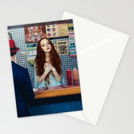 Prayer in a bar Stationery Cards