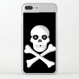 Skull, skeleton design Clear iPhone Case