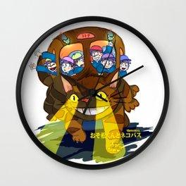Osomatsu Kun and Neko Bus! Wall Clock