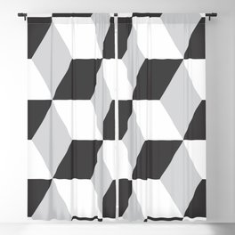 Cubism Black and White Blackout Curtain
