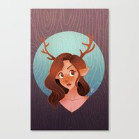 fawn Canvas Prints featuring Fawn by Lauren Draghetti