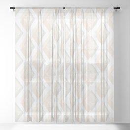 Minimalist Geometric II, Mid Century Modern Sheer Curtain
