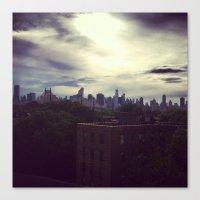 manhattan Canvas Prints featuring Manhattan  by Claire Beaufort