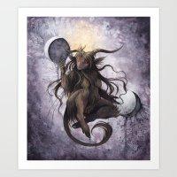 baphomet Art Prints featuring Baphomet by Savannah Horrocks