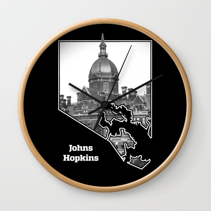 Johns Hopkins Wall Clock