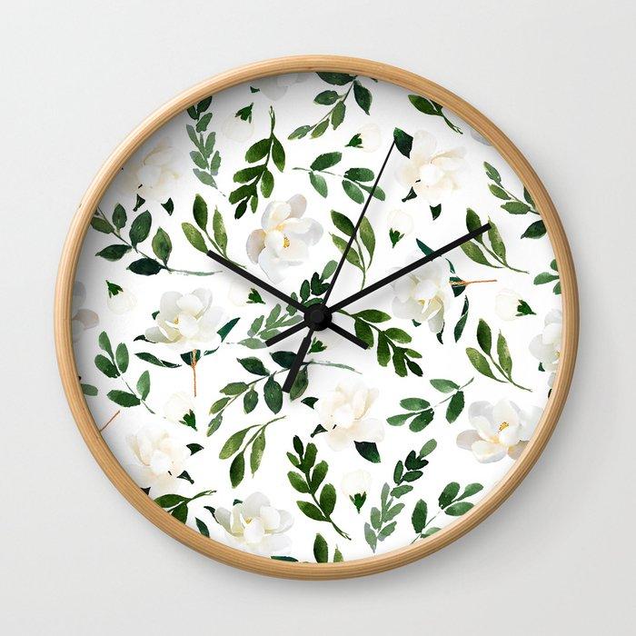Magnolia Tree Wall Clock