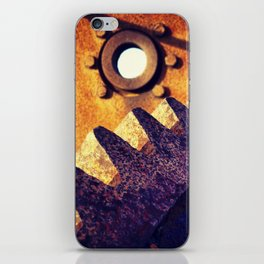 disused industrial machinery on the coast, rusty and abandoned iPhone Skin