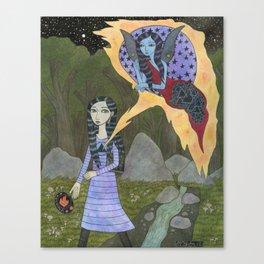Followed By an Interdimensional Girl Canvas Print