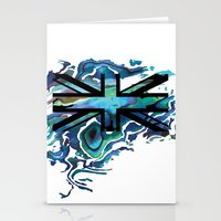 union jack Stationery Cards featuring Union Jack by Boz Designs