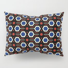 Vintage wallpaper from seventies - Electro version. Pillow Sham