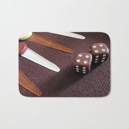 Backgammon dice double Bath Mat