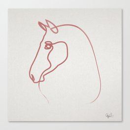 One line Horse 1606 Canvas Print