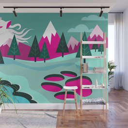 Monster Cat in the Mountains Wall Mural