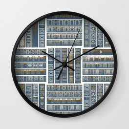 The Bookish Checkerboard Wall Clock
