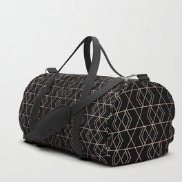 Geo Pattern - Black & Gold Duffle Bag