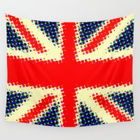 union jack Wall Tapestries featuring Union Jack by deff
