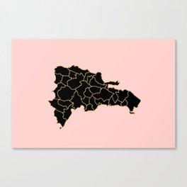 Dominikan Republic map Canvas Print