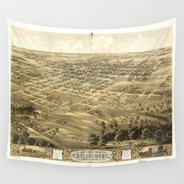 Bird's Eye View of Chillicothe, Missouri (1869) Wall Tapestry