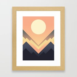 The Sun Rises Framed Art Print