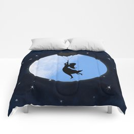 Starry Night Balloons Girl Comforters