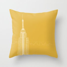 NYC by Friztin Throw Pillow