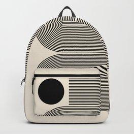 Abstraction_LINE_BLACK_DOT_VISUAL_ART_Minimlism_001A Backpack