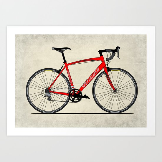 Specialized Racing Road Bike Art Print