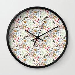 Dancing Hares Wall Clock