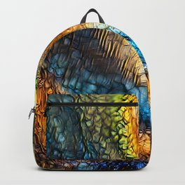 Golden Abstract 1 Backpack