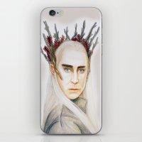 thranduil iPhone & iPod Skins featuring Thranduil by Olivia Nicholls-Bates