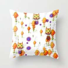 Owls are here Throw Pillow