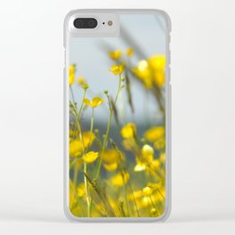 Yellow flowers 5 Clear iPhone Case