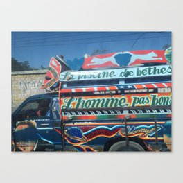 The Painted Taxi Canvas Print