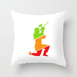 Paintball Player Paintball Marker Color Balls Gift Throw Pillow