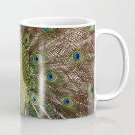 A Peacock Displays its Finery Coffee Mug