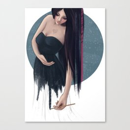 She Painted Her World Canvas Print