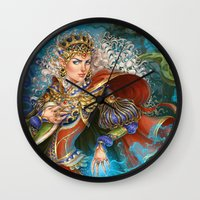 berserk Wall Clocks featuring Elven sorceress by DiMary