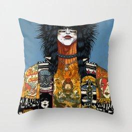 Portrait of Nikki Sixx Throw Pillow