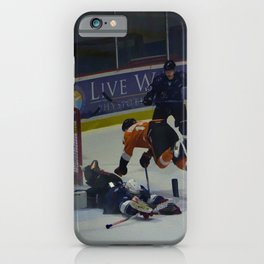 Dive for the Goal - Ice Hockey iPhone Case