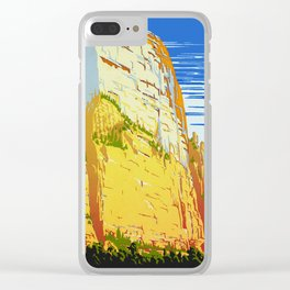Zion National Park - Vintage Travel Clear iPhone Case
