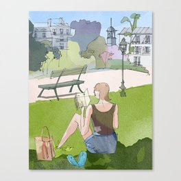 Just a little time to read Canvas Print